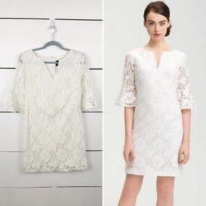 ADRIANNA PAPELL Bell Sleeve Lace Dress 8 Petite